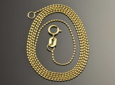 """18k Gold Necklace. Chain """"Bead"""". Length 50 cm"""