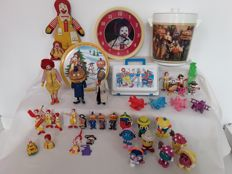 Collection of 44 vintage Mc Donalds toys