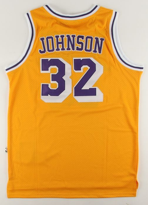 4f7253a3cb3 Autographed Earvin Magic Johnson Los Angeles Lakers Adidas Jersey HOF with  PSA/DNA COA Autographed by NBA USA Hall of Fame.