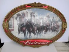Budweiser Vintage Advertising - Plastic Frame display - sec. XX