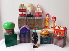 Collection of   McDonalds merchandise objects