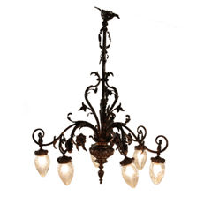 Bronze chandelier - Italy, early 20th century