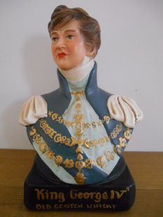 rare advertising statue of 'King George IV Old Scotch Whiskey' from 1950