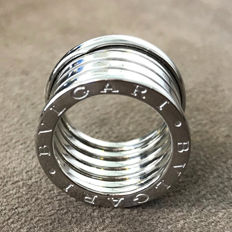 BULGARI ring model B. ZERO large 18 kt (750/1000) white gold t-10 weight 12.9 g – size 10
