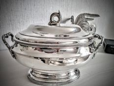 Silver plated metal tureen