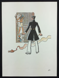 "Corto Maltese - silk screen print ""La Luna"""
