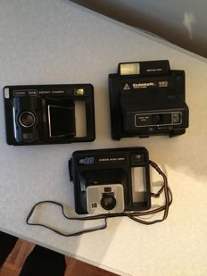 Lot of 3 Kodak instant cameras