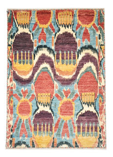 Hand-knotted carpet - approx. 206 x 148cm - modern