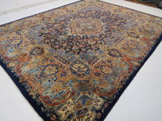 Wonderful beautiful Persian picture carpet Kashmar/Iran 385 x 300cm vases/nature/motif, end of the 20th century ***top professional organic clean*** mint condition