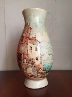 Mario Grimaldi - Painting on Ceramic Vase