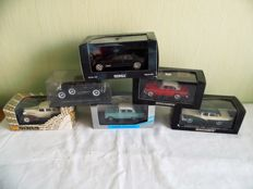 Norev / Minichamps / Ixo  - Scale 1/43 - Lot with 6 models: Ford, Cadillac, Buick, Opel & Volvo