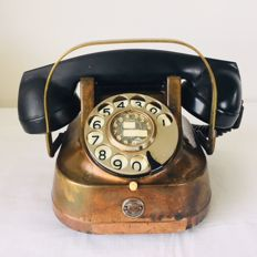 A beautiful old copper Telephone, Belgium - 1956 (RTT)