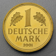 Germany - 1 German Mark Goldmark 2001 A - gold