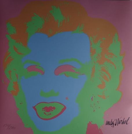Marilyn Monroe - Lithograph By Andy Warhol (after) - Signed And Numbered