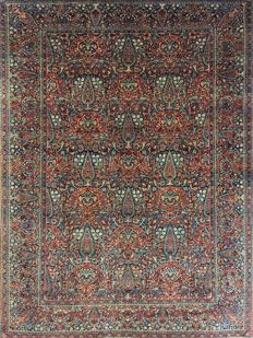 Antique Persian Kashan Kurk rug - 192 x 132 cm