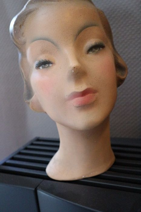 French plaster mannequin/shop window head