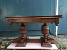 Solid wooden coffee table, type monastery table, 2nd half of the 20th century