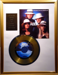 "ABBA - Dancing Queen - 7"" Single Polar Records golden plated record Special Gold Edition"