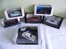 Norev / Solido - Scale 1/43 - lot with 6 models: 6 x Peugeot