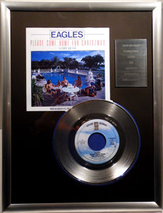 "The Eagles - Please come home for Christmas - 7"" Single Asylum Records platinum plated record Special Edition"