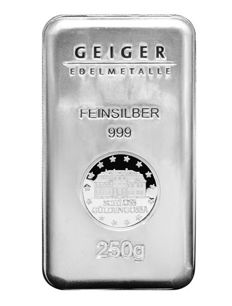 "Germany: 250 g silver bar ""Geiger - Security Line"" Güldengossa Castle"