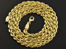 18k Gold Necklace. Chain. Cord. Length 55 cm. Weight 8.92 g. No reserve price.