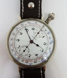 Doxa chronograph men's marriage wristwatch circa 1925