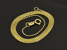 "18k Gold Necklace. Chain ""Bead"". Length 50 cm"