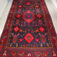 Exceptional nomad Hamadan Persian rug - 235 x 133 - Very good condition - Superb qualilty - Authentic look