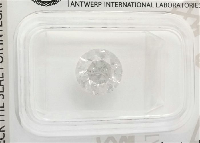 Round Brilliant Cut  - 2.31 carat - G color - I1 clarity- Sealed With AIG - 3 x VG - None