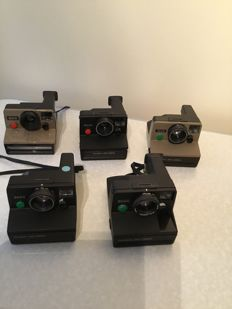 Lot of 5 Polaroid land cameras