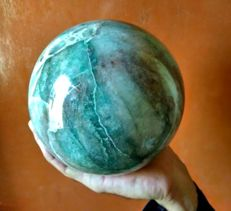Large Green Aventurine Crystals Sphere Ball - 15 cm - 4676 gm
