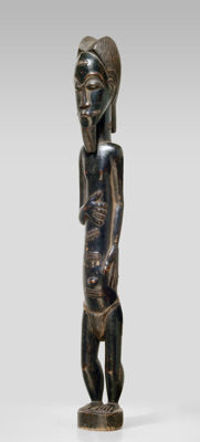 A male BAULE sculpture, Ivory Coast