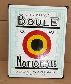 emaille bord boule nationale cigarettes