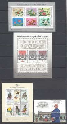 Macau 1983/1986 - Small sellection of sheets - Michel 1 , 2 , 3 & 5