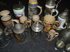 Collection of beer 14 mugs - Second half 20th century - Germany