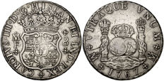 Spain 1x8 reales from King Carlos III - 1767 - Mexico - M.F.