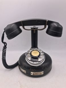 Antique Iron Industrial Telephone, France 1941
