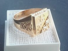 Vintage 14K gold ring, made by Westerbacka Ky