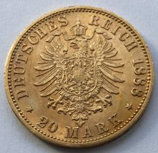 Germany (Prussia) - 20 Mark 1888 A - Friedrich I - gold