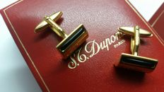 S.T.Dupont gold plated & onyx cufflinks