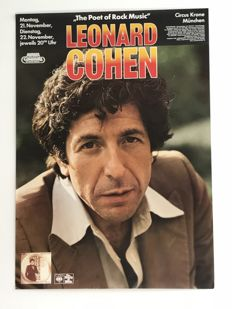 Leonard Cohen, Concert Poster and Program in German, French and English