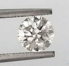 Diamond of  1.09 carat , F color , SI1 clarity , Big AIG certificate + Laser Inscription on Girdle , 3 x EX .
