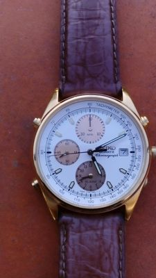 Seiko – Men's watch – Model: 7T32-783A – Chronograph – Made in Japan – Year: 1980-1989