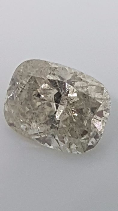 1.57 ct - Cushion - White - I /  SI2