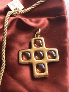 Pomellato cross, citrine