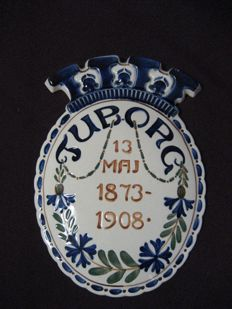 Beer advertising Tuborg 1908 aluminium royal copenhagen