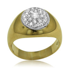 Impressive Pavé-set 0.50ct Diamond Ring, as new. - size 59