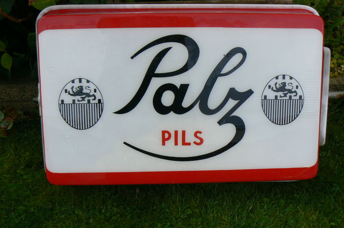 Illuminated advertising Palz pils - 2nd half 20 century