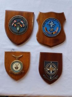 Four different weapon plaques of the Allied Tactical Air Force/NATO